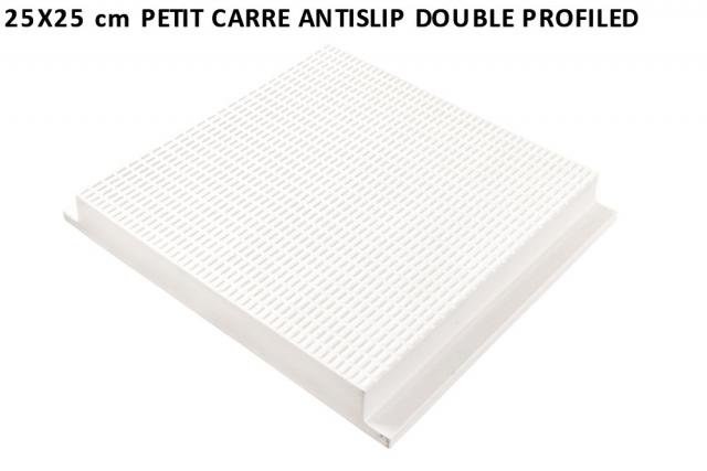 25x25 cm petit carre antislip double profiled