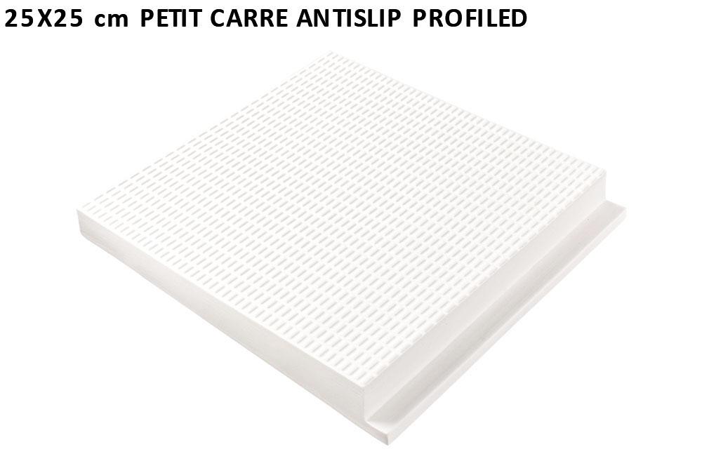25x25 cm petit carre antislip profiled