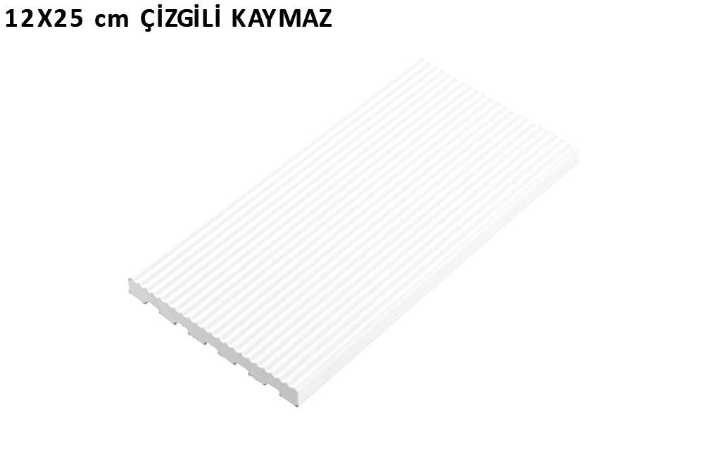 12x25 cm çizgili kaymaz